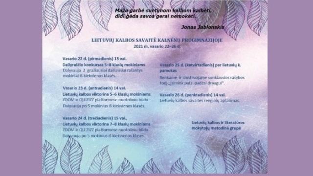 Lietuvių kalbos savaitė