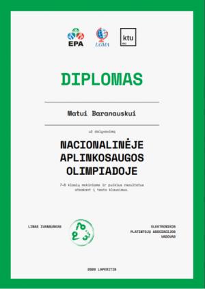2020-12-03 Nacionalinė aplinkosaugos olimpiada