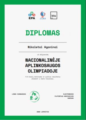 diplomas Nikoletai Aganinai