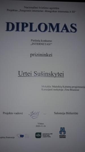 """2021-01-08 Piešinių konkursas """"Internetas"""""""