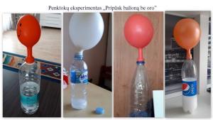 """2021-04-02 Penktokų eksperimentas """"Pripūsk balioną be oro"""""""