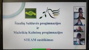 2021-04-14 Susitikimas su Šiaulių Salduvės progimnazijos mokytojais